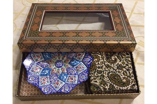 ست صنایع دستی میناو قلمکار تبلیغاتی