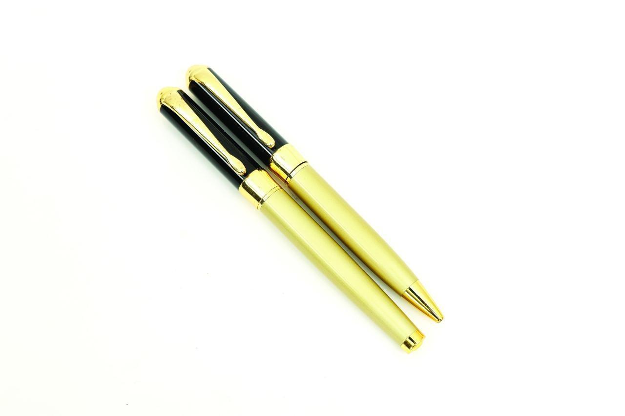 خودکار و روان نویس تبلیغاتی طلایی مشکی مدل 745