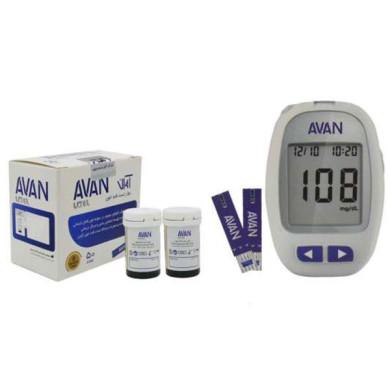 دستگاه تست قندخون آوان مدل AGM01 به همراه مجموعه 2 عددی نوار تست قند خون آوان