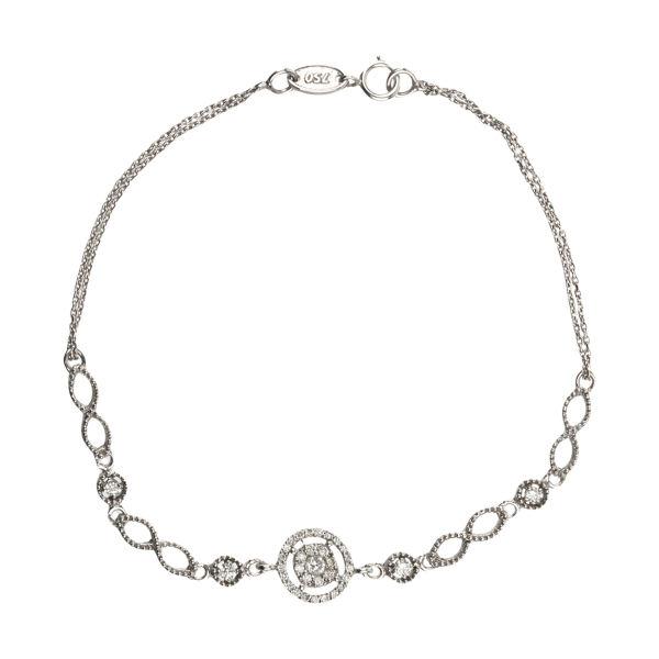 دستبند طلا 18 عیار زنانه آلند کد 1995