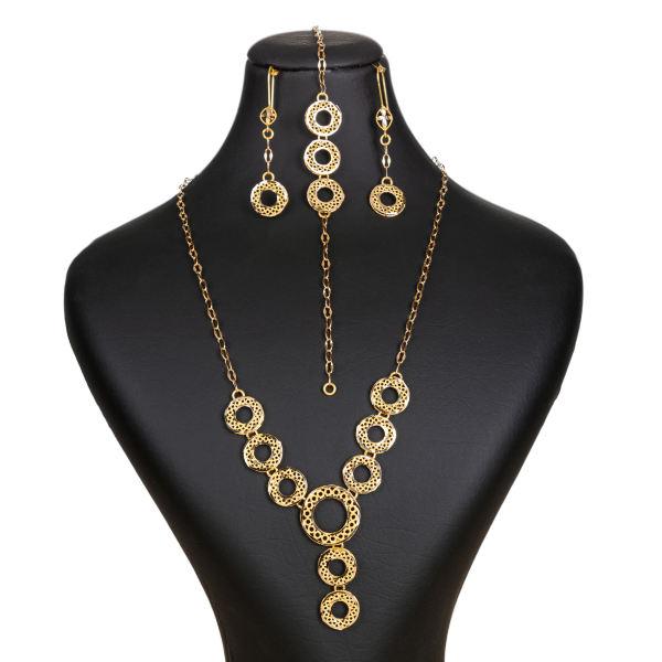 نیم ست طلا 18 عیار زنانه گالری یارطلا کد SR-01
